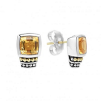 lagos_sterling_silver_&_18k_yellow_gold_caviar_color_citrine_post_earrings