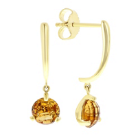 14k_yellow_gold_round_checkerboard_citrine_dangle_earrings