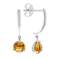 14k_white_gold_round_checkerboard_citrine_dangle_earrings