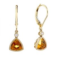 14k_yellow_gold_checkerboard_trillion_citrine_&_diamond_milgrain_bezel_drop_earrings