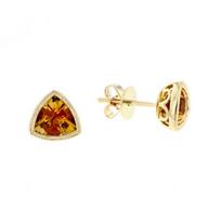 14k_yellow_gold_checkerboard_trillion_citrine_milgrain_bezel_post_earrings