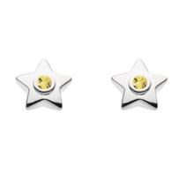 sterling_silver_round_citrine_bezel_set_star_stud_earrings