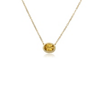 14k_yellow_gold_oval_citrine_rope_bezel_set_necklace,_19""