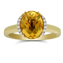 14K_Yellow_Gold_Oval_Checkerboard_Citrine_and_Round_Diamond_Ring