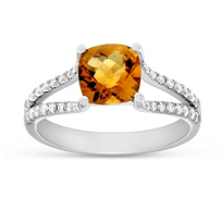 14K_White_Gold_Cushion_Checkerboard_Citrine_and_Round_Diamond_Split_Shoulder_Ring