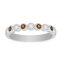 14K_White_Gold_Round_Citrine_and_Round_Diamond_Bezel_Set_Milgrain_Ring