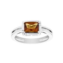 14k_white_gold_checkerboard_citrine_&_diamond_split_shank_ring