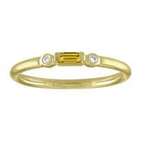 14k_yellow_gold_baguette_citrine_&_round_diamond_bezel_set_ring