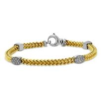"14K_Yellow_and_White_Gold_Diamond_Station_Bracelet,_7.5"""