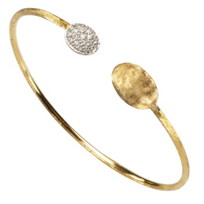 Marco_Bicego_18K_Yellow_&_White_Gold_Siviglia_Diamond_Bangle,_0.15cttw