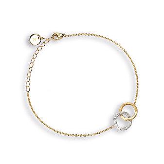 Marco Bicego 18K Yellow & White Gold Double Circle Delicati Bracelet