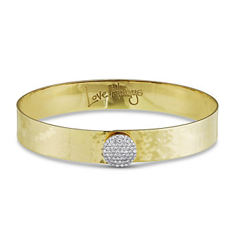 Phillips House 14K Gold Love Always Hammered Bracelet