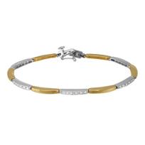 "14K_Yellow_&_White_Gold_Diamond_Bracelet,_7"""