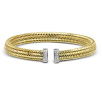 Roberto_Coin_18K_Yellow_Gold_Diamond_Bangle_Bracelet