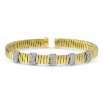 18K_Yellow_&_White_Gold_Diamond_Station_Cuff_Bracelet