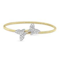 18K_Two-Tone_Round_Diamond_Butterfly_Bypass_Bangle_Bracelet