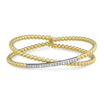 18K_Yellow_Gold_Diamond_Criss_Cross_Cuff_Bracelet
