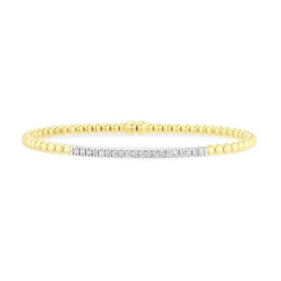 18k white & yellow gold diamond cuff bracelet