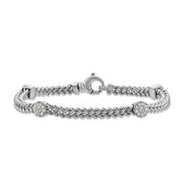 14K_White_Gold_Diamond_Round_Station_Bracelet,_7""