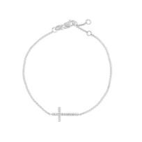 14K_White_Gold_Diamond_Cross_Bracelet