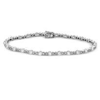 18K_White_Gold_Bezel_Set_Diamond_Bracelet