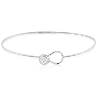 Phillips House 14K White Gold Love Always Thin Bangle Bracelet