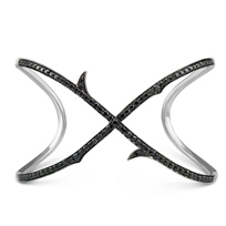 Stephen_Webster_18K_White_Gold_Black_Diamond_Thorn_Bracelet