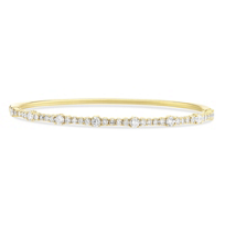 18K_Yellow_Gold_Diamond_Bangle_Bracelet_____________________________________________
