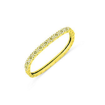 Roberto Coin 18K Yellow Gold Pois Moi Diamond Bangle Bracelet