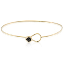 Phillips_House_14K_Yellow_Gold_Love_Always_Black_Diamond_Thin_Bangle