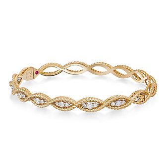 Roberto Coin 18K Yellow Gold Diamond Barocco Bracelet