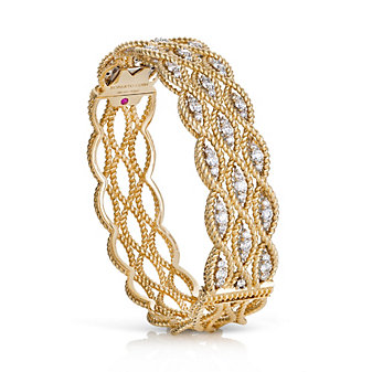 Roberto Coin 18K Yellow Gold Barocco Three Row Bracelet