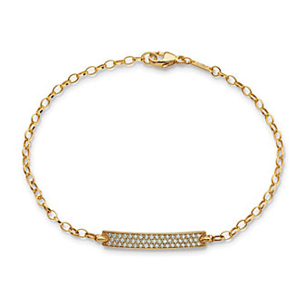 Monica Rich Kosann 18K Yellow Gold Carpe Diem Diamond Poesy Bracelet