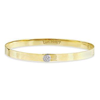 Phillips House 14K Yellow Gold & Diamond Hammered Bracelet