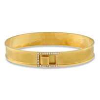 14K_Yellow_Gold_Hammered_&_Brushed_Diamond_Bangle_Bracelet,_0.27cttw