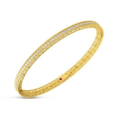 Roberto Coin 18K Yellow Gold Diamond Symphony Princess Bracelet