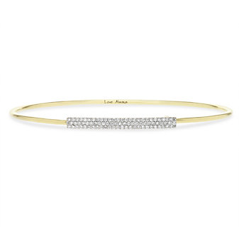 phillips house 14k yellow gold diamond pave bar wire strap affair bracelet
