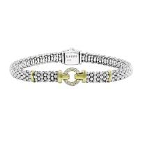 Lagos_18K_Yellow_Gold_and_Sterling_Silver_Caviar_Enso_Single_Diamond_Circle_Bracelet