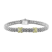 Lagos_Sterling_Silver_&_18K_Yellow_Gold_Diamond_Double_Station_X_Bracelet