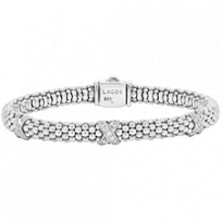 Lagos_Sterling_Silver_Diamonds_&_Caviar_Three_Station_X_Bracelet