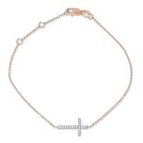 14K_Rose_and_White_Gold_Diamond_Sideways_Cross_Bracelet