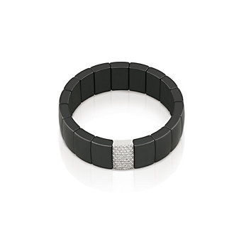 Roberto Demeglio Black Ceramic and Diamond Bracelet
