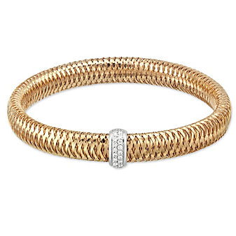 Roberto coin 18K Rose Gold Diamond Primavera Bangle Bracelet, Medium