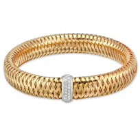 Roberto_Coin_18K_Rose_Gold_diamond_Primavera_Bangle_Bracelet,_0.25cttw