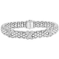Lagos_Sterling_Silver_Diamond_Lux_X_Bracelet