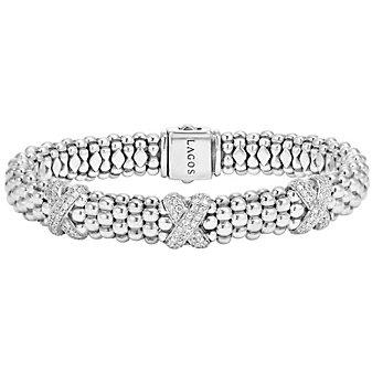 Lagos Sterling Silver Diamond Lux X Bracelet
