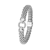 Lagos_Sterling_Silver_Enso_Diamond_Caviar_Beaded_Bracelet