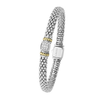 Lagos_Sterling_Silver_&_18K_Yellow_Gold_Diamonds_&_Caviar_Beaded_Bracelet