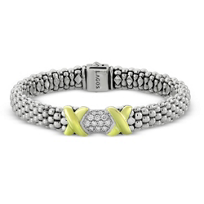 Lagos_Sterling_Silver_&_18K_Yellow_Gold_Diamond_Lux_Beaded_Bracelet,_0.54cttw
