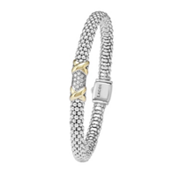 Lagos_Sterling_Silver_&_18K_Yellow_Gold_Diamond_Lux_Double_X_Station_Bracelet